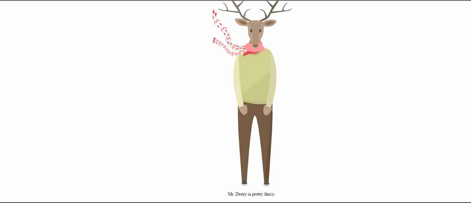 Deer Animation with html and css  javascript