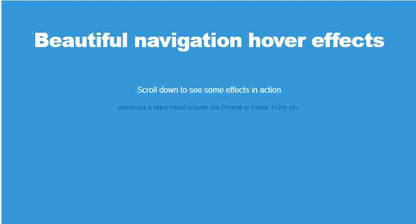 Beautiful navigation hover effects on scroll