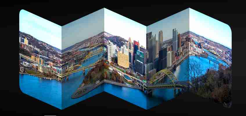 Folding panorama animation
