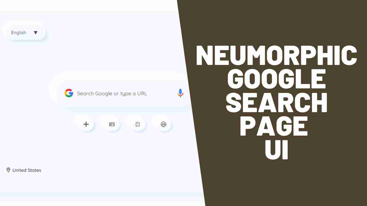 Google Search Page Redesign In Neumorphism UI