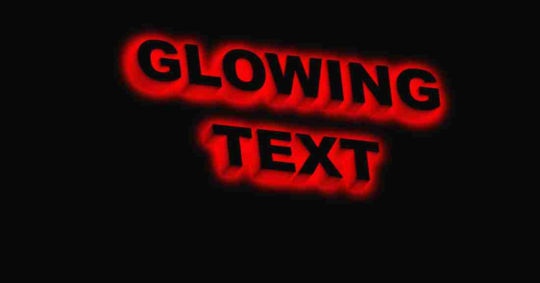 Glowing Text with CSS