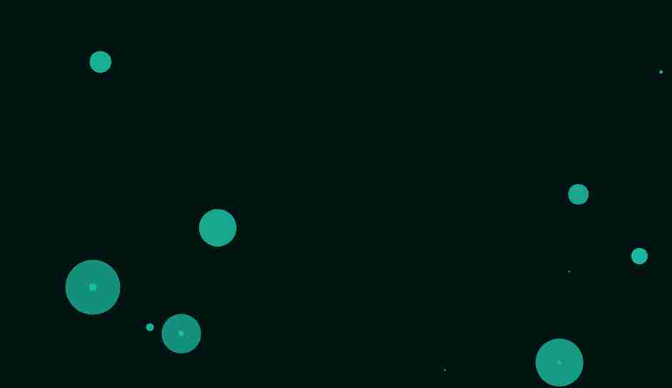 random bounce circles