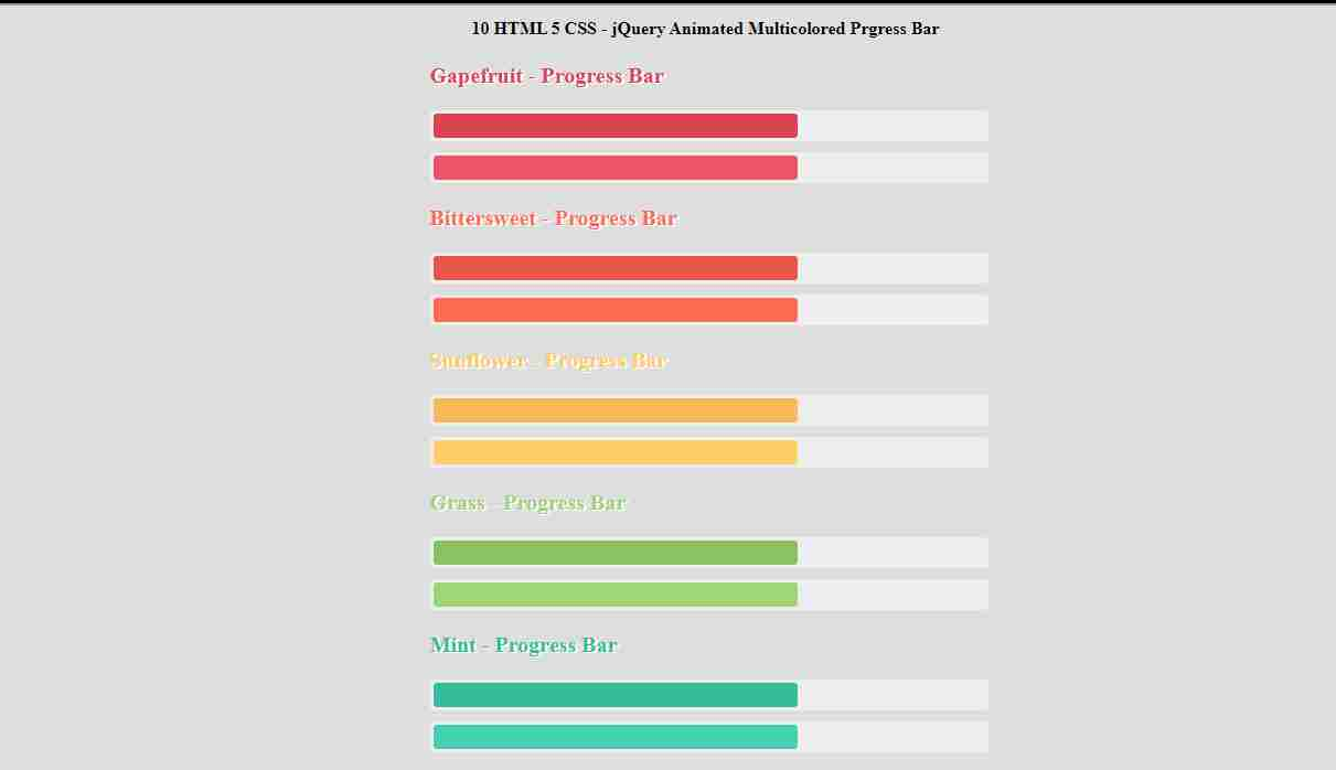 Animated SKills Bar Design - Css Animation Effects - Pure Html5 CSS3 Tutorial