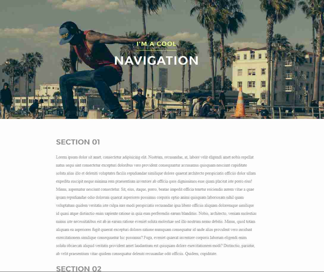 Dynamic Drop Down Navigation with Animation