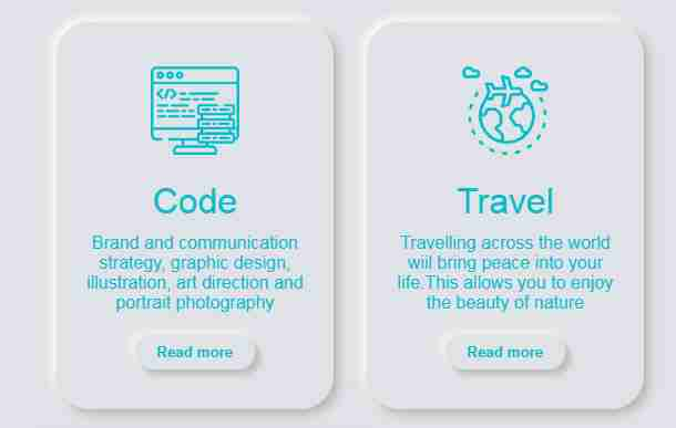 UI card design Using HTML and CSS