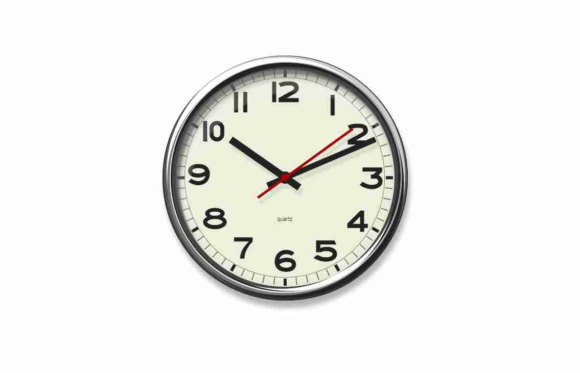 School Clock Using CSS Moving Second Hand
