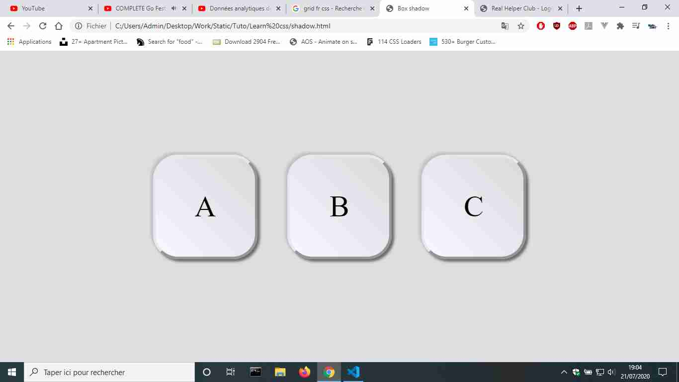 Neumorphism keyboard (CSS)