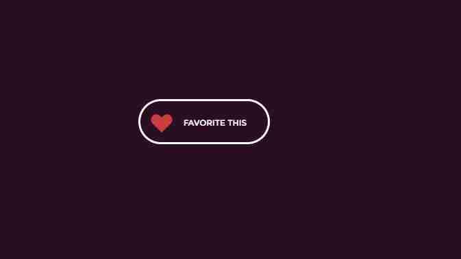 CSS Favorite Button