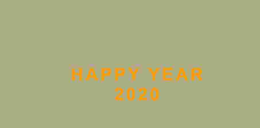 Happy new year animation text