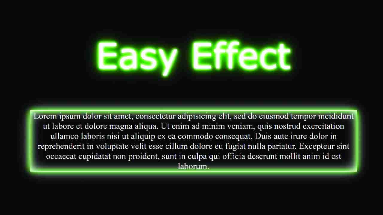 Neon Effect Using html and css