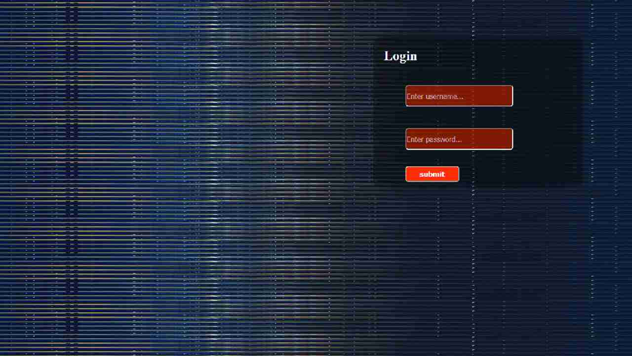 simple login page in html and css