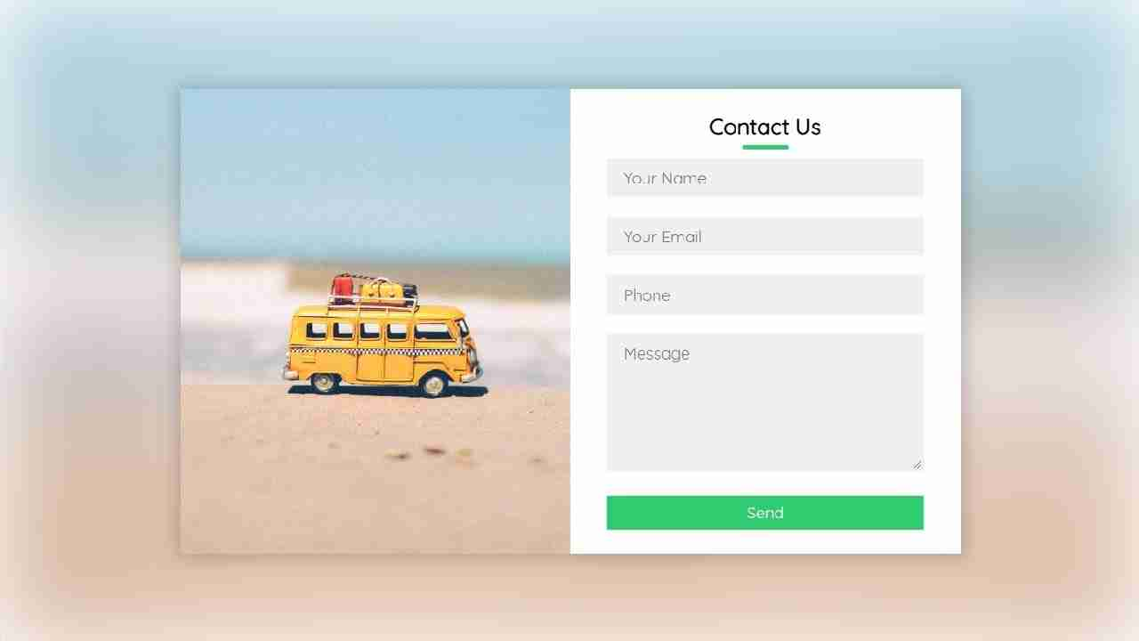 Responsive Contact Us Form Using HTML & CSS