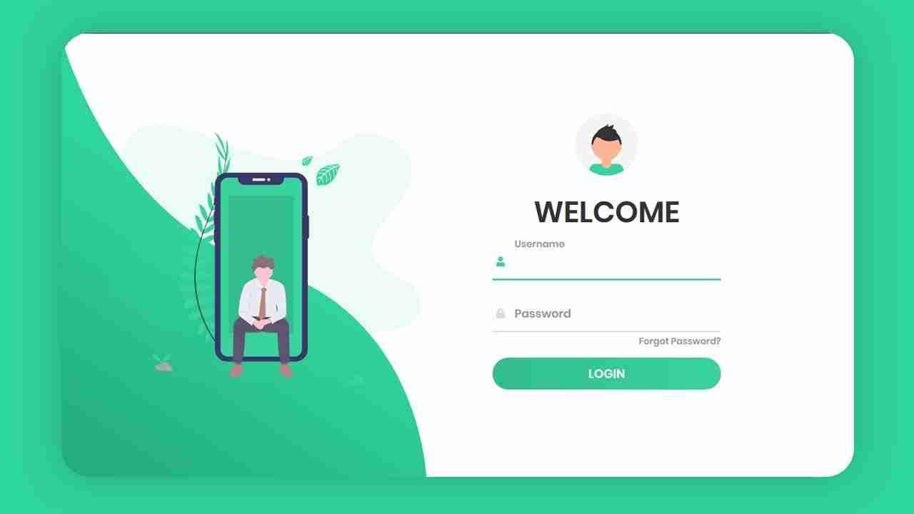 Responsive Animated Login Form Using HTML & CSS & JavaScript