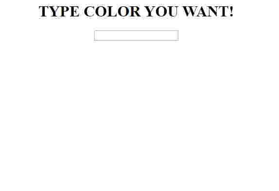 TYPE COLOR YOU WANT!!!