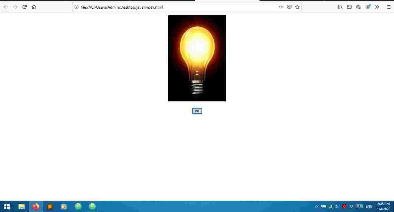 java script light on of animation , jquery animation,