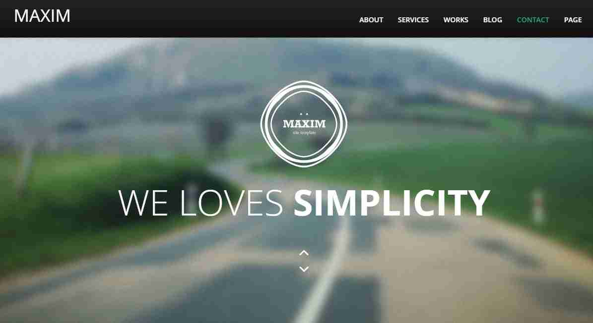 Team Portfolio Website Template Maxim With Source Code