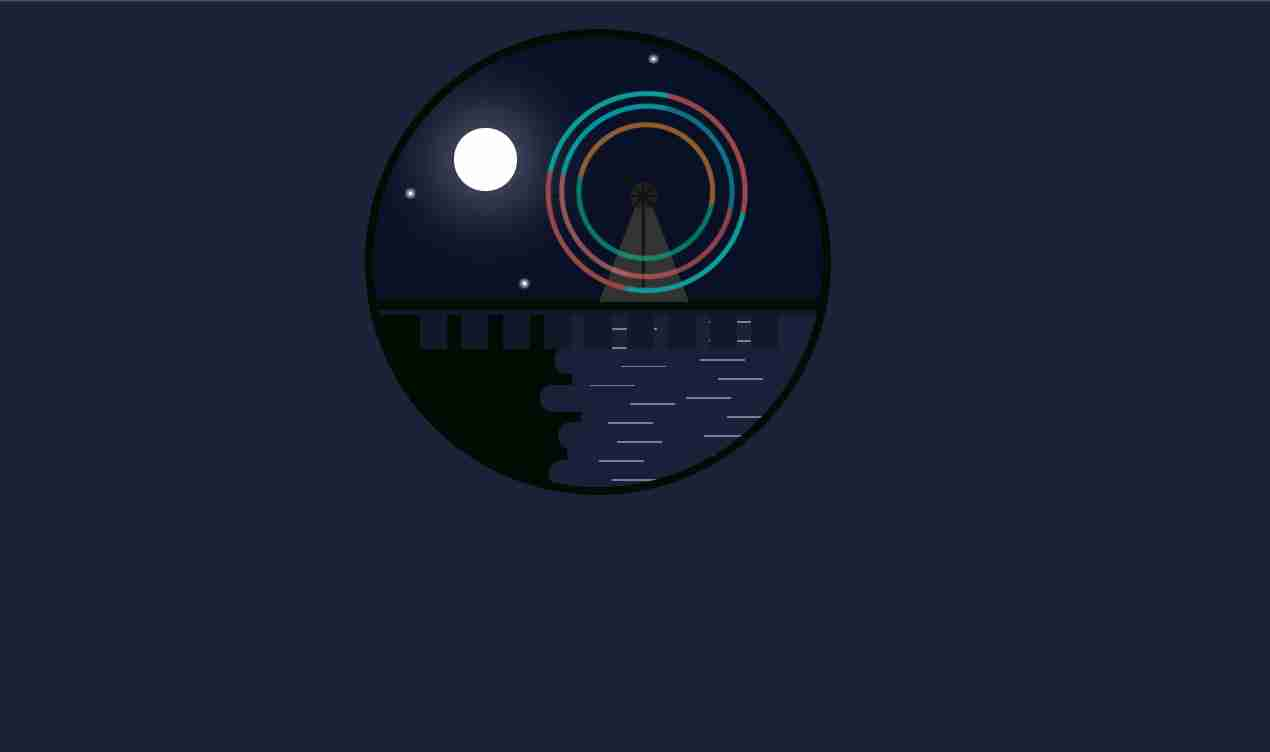A Colorful Night html and css