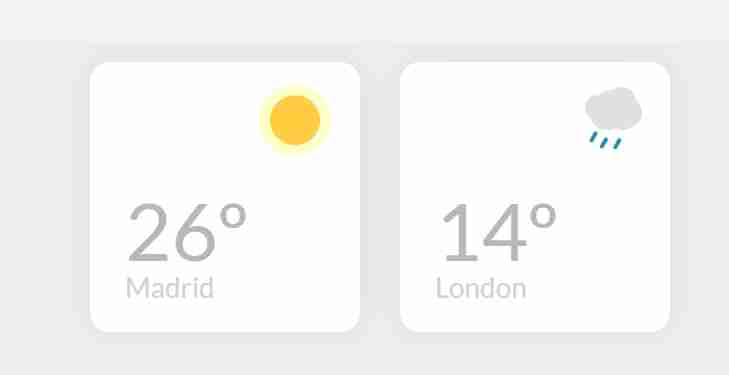 CSS Card For Weather Widget Only Using CSS and HTML