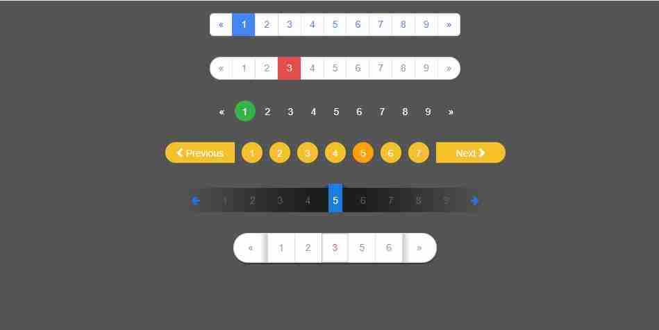 Pagination UI Design using HTML CSS | Fully Functional Pagination Design