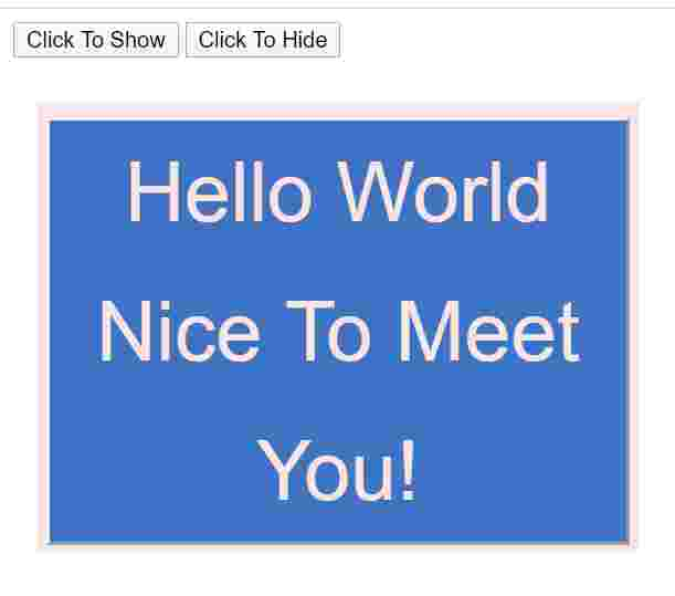 Click to show Click to hide by html,css and javascript