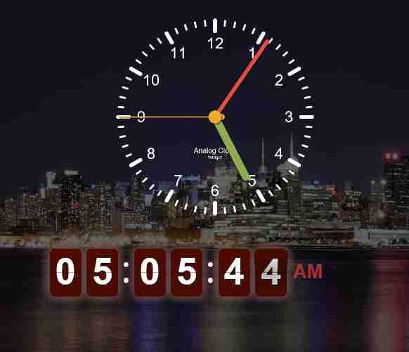 amazing analog clock