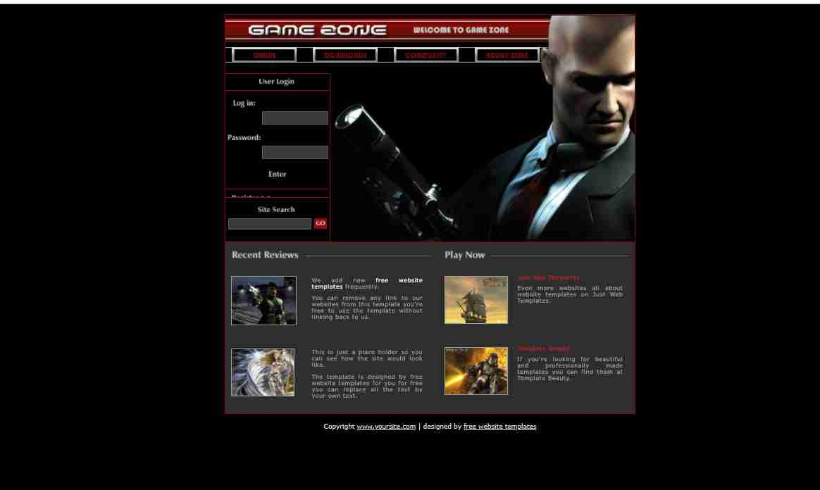 How to make gaming website from html and css