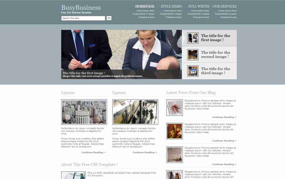 How to create a company or business website