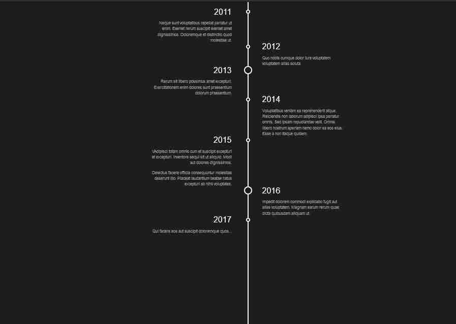 timeline design html css