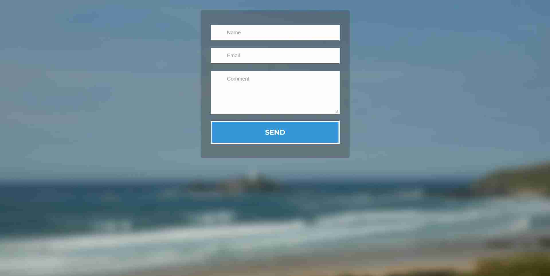 Flat Responsive Form using CSS3 & HTML5