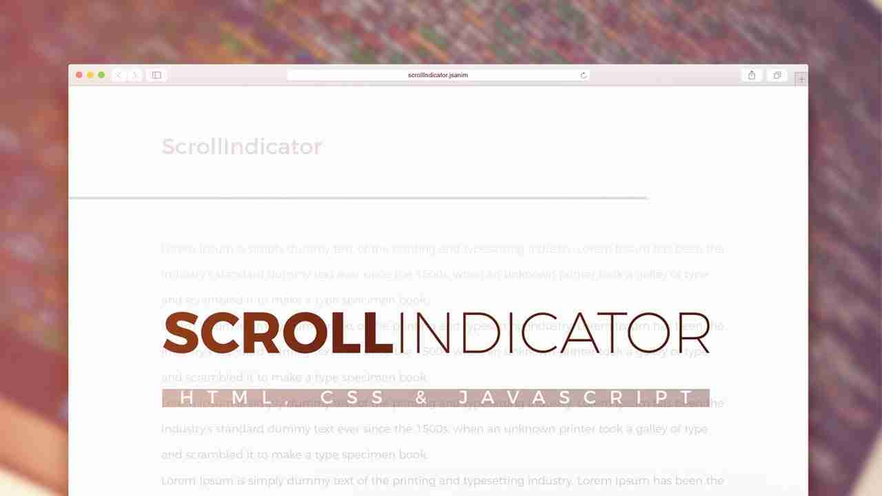 Scroll Indicator Using html, css and JavaScript