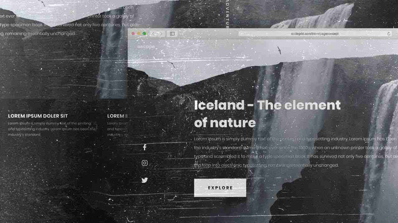 Travel Website Landing Page Concept