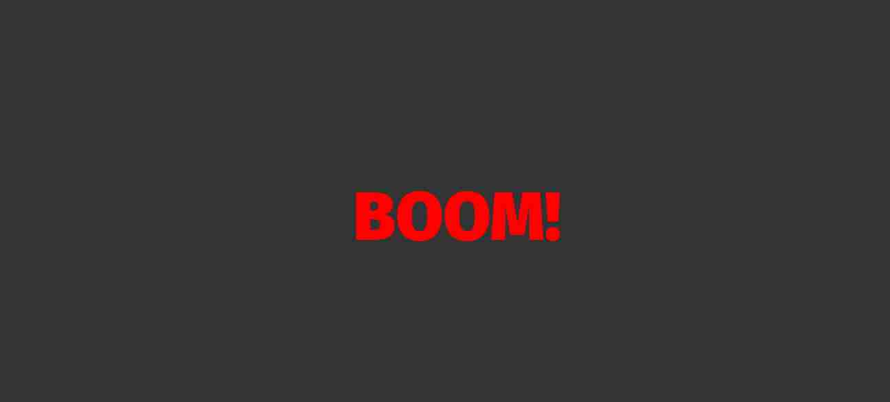 Pure CSS Animation Time Boom Numbering. Using  HTML And CSS.