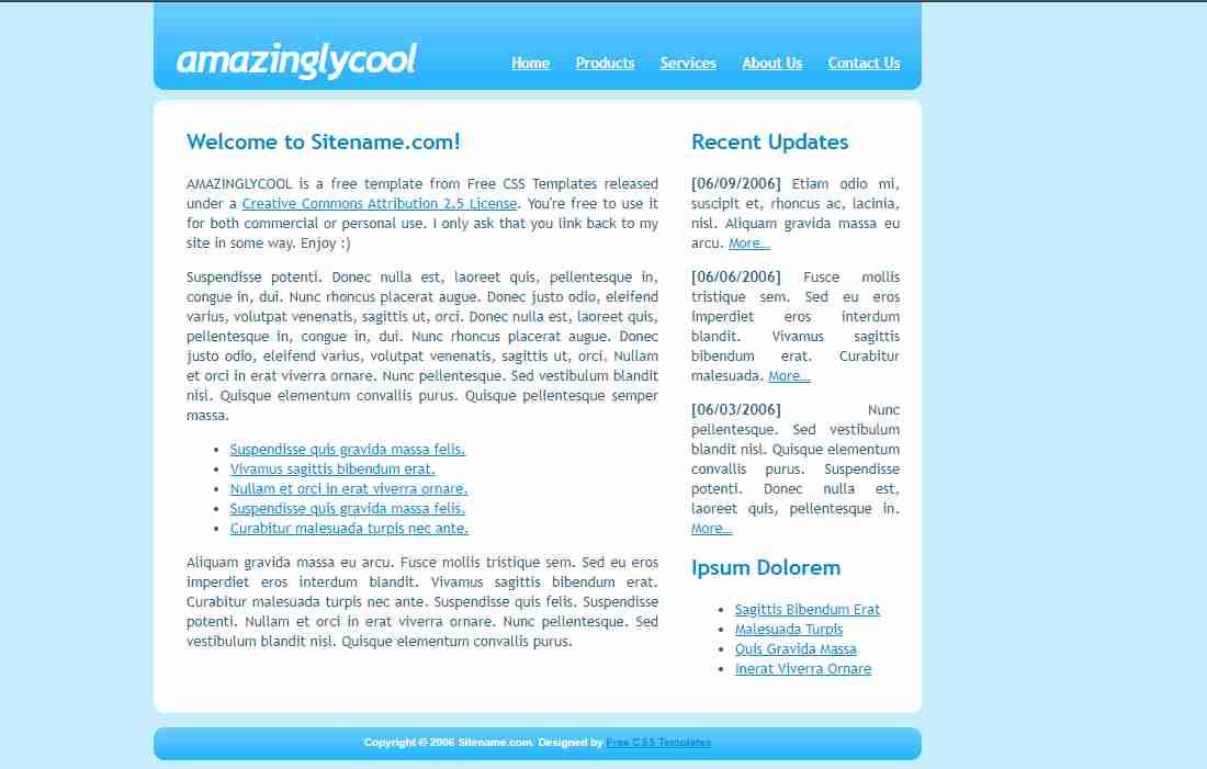 Amazinglycool Responsive Personal Portfolio Website using HTML CSS