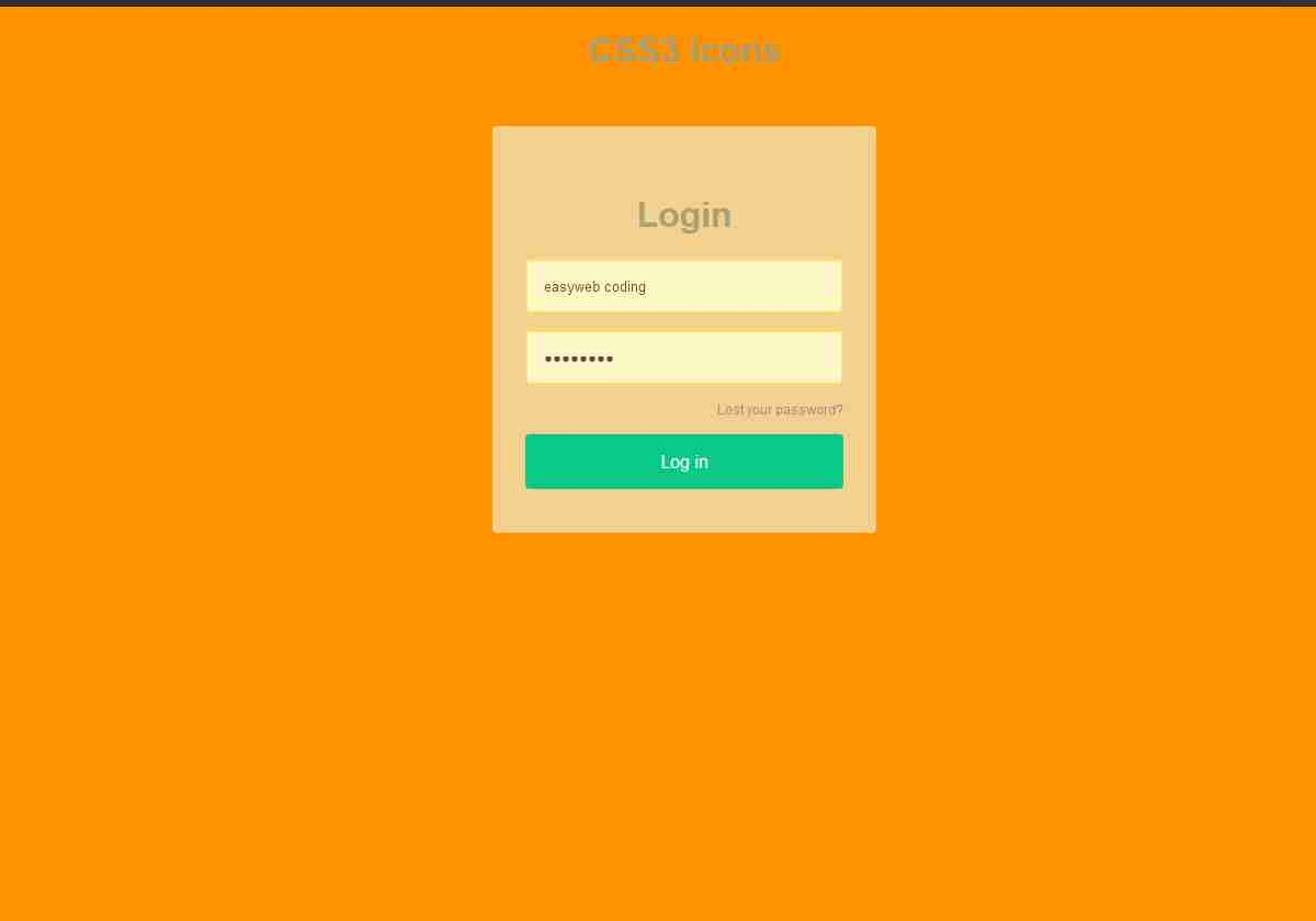 Beautiful Transparent Login Form with Shaking Effect with Animate.css in HTML5 & CSS3