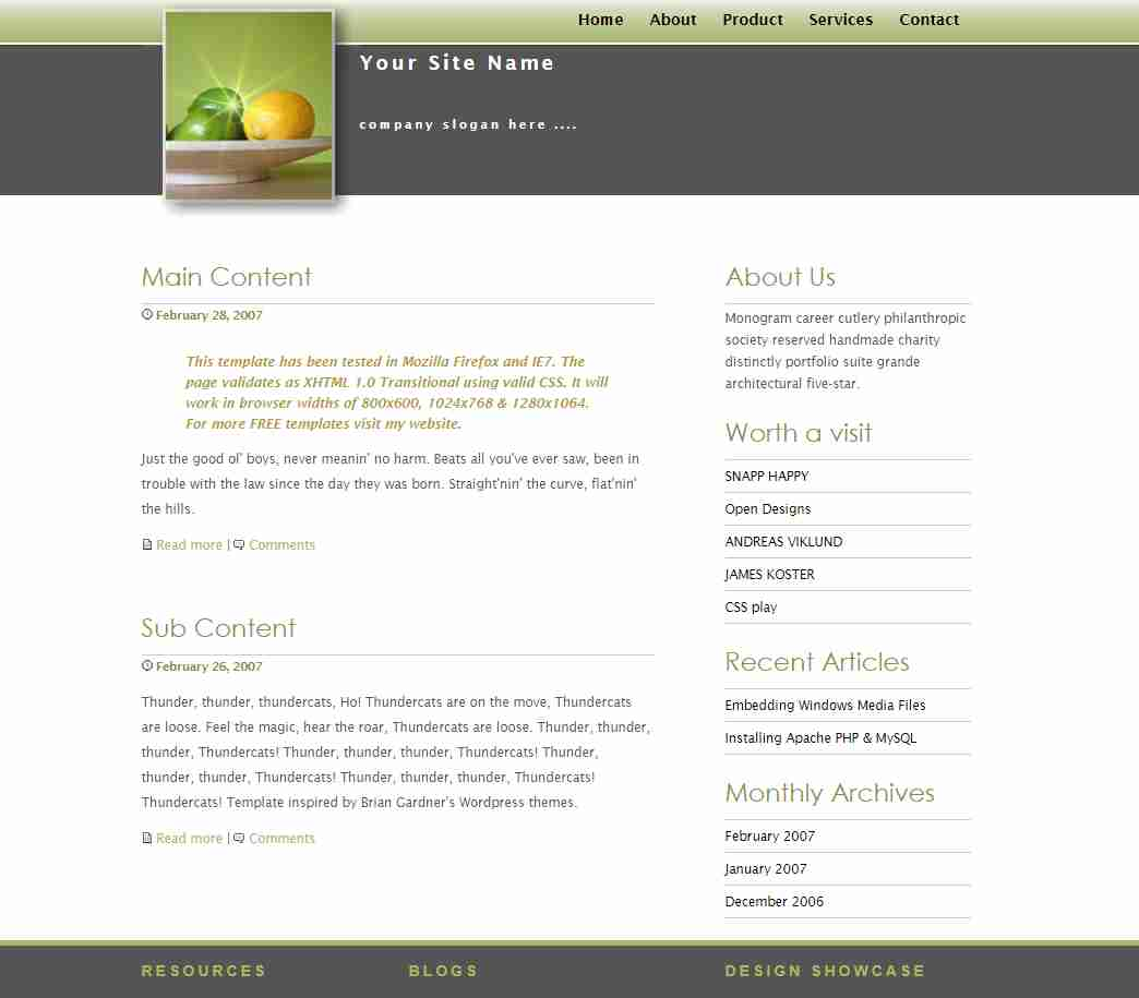 How To Create Lime Light Web site Design  With HTML & CSS