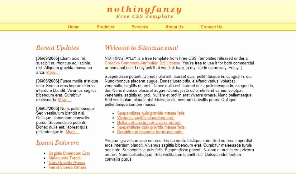 nothingfanzy  website design with html and css // website design in html and css