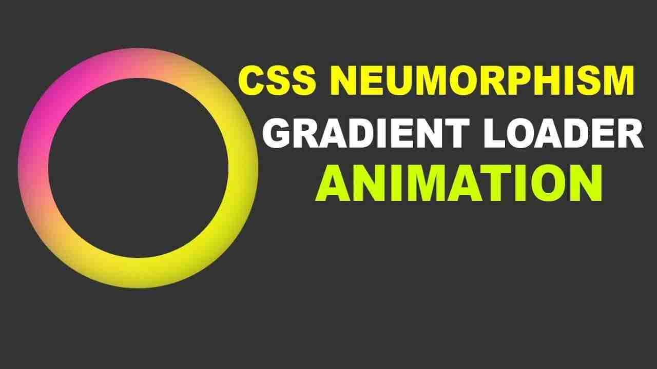 gradient loader animation effect using html and css
