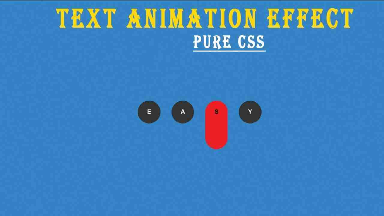 How to Create Text Animation Effect With CSS & HTML