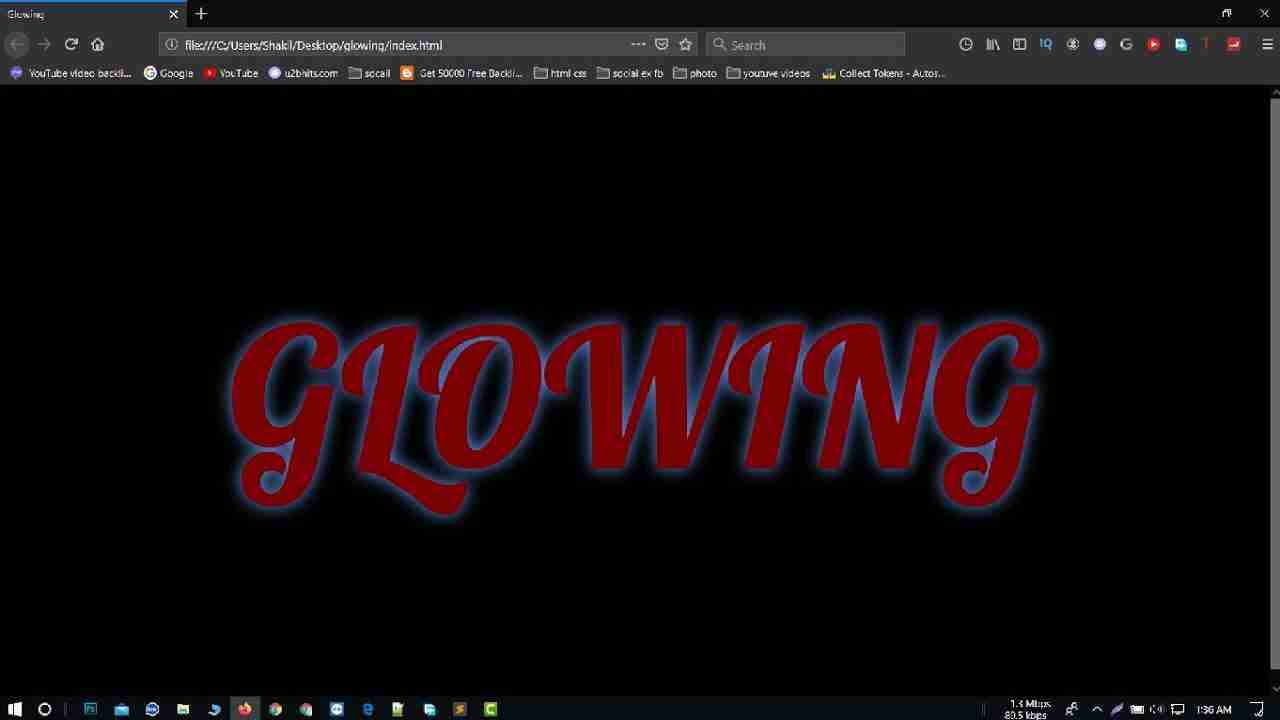 Glowing Text Animation Effects