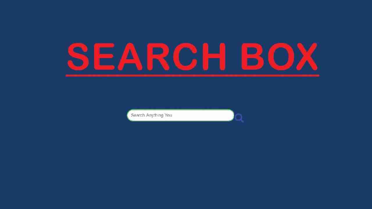 How To Create  CSS Search Box Using Only HTML & CSS