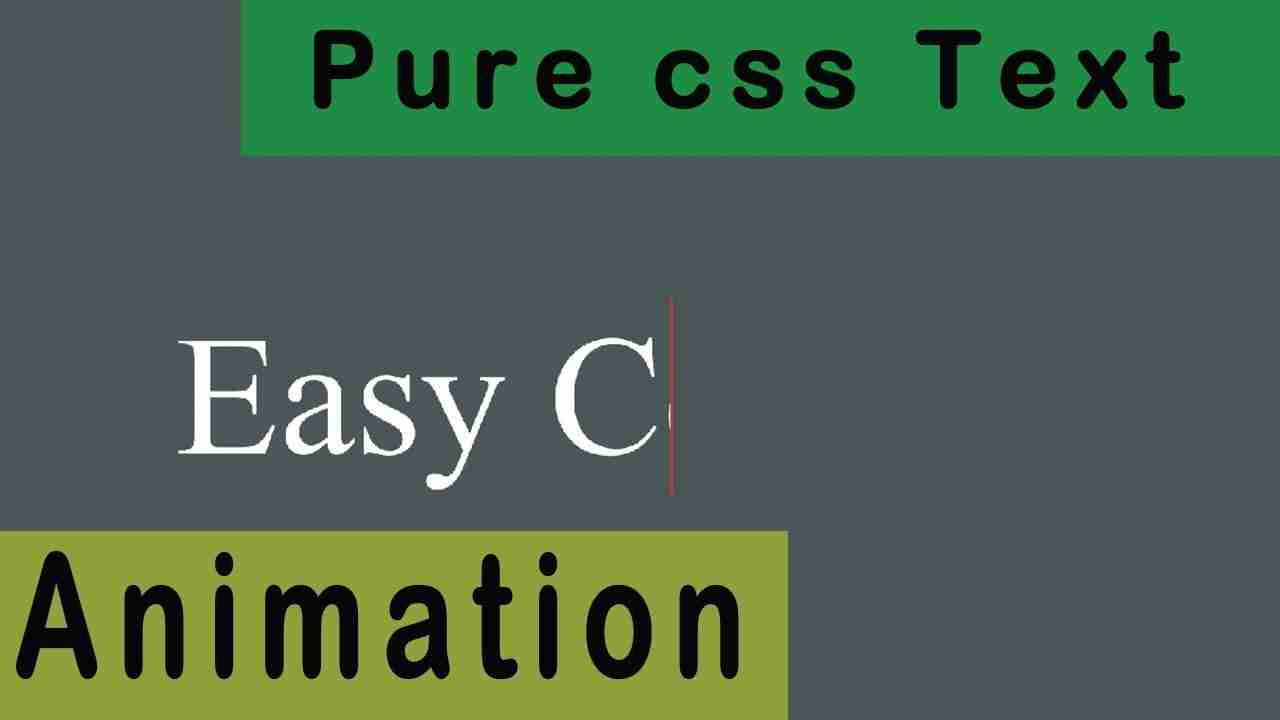 Text Typing Animation Effects Using Html and CSS