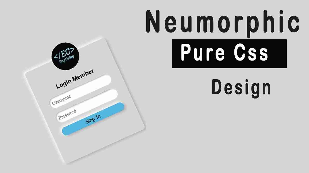 Neumorphism Login Form UI Design using HTML & CSS