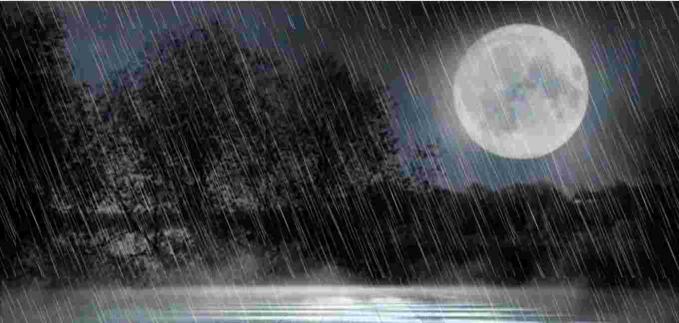 Rain animation uses html and css.