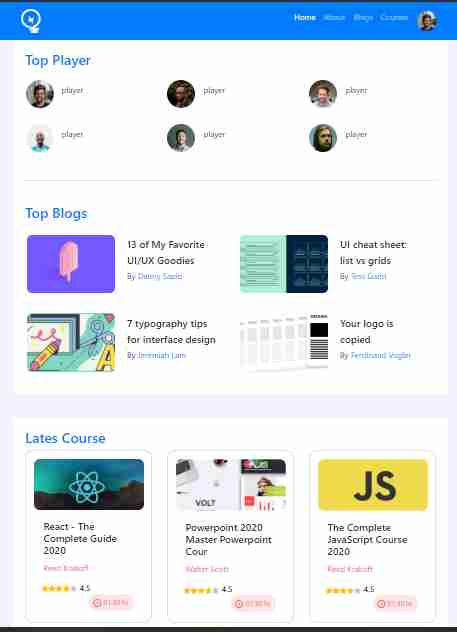 leader board with bootstrap