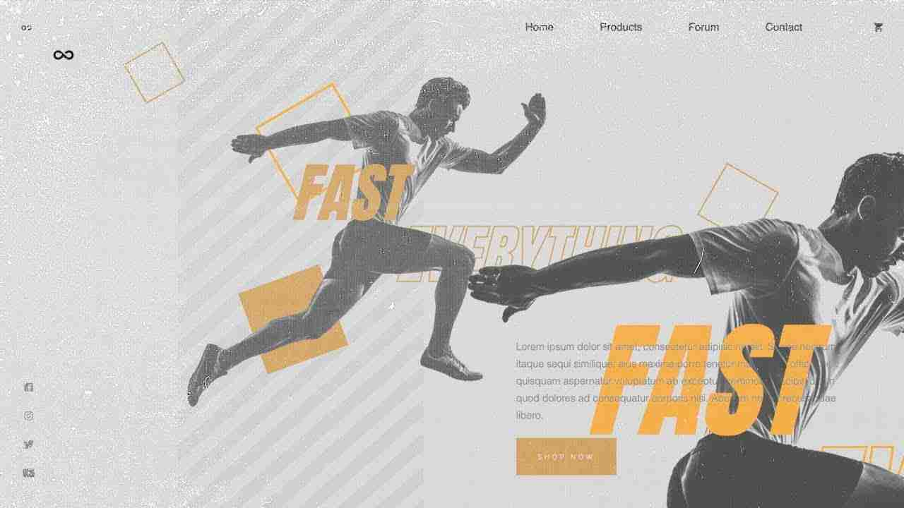 Sports Theme Landing Page Concept | HTML, CSS & JAVASCRIPT (GREENSOCK)