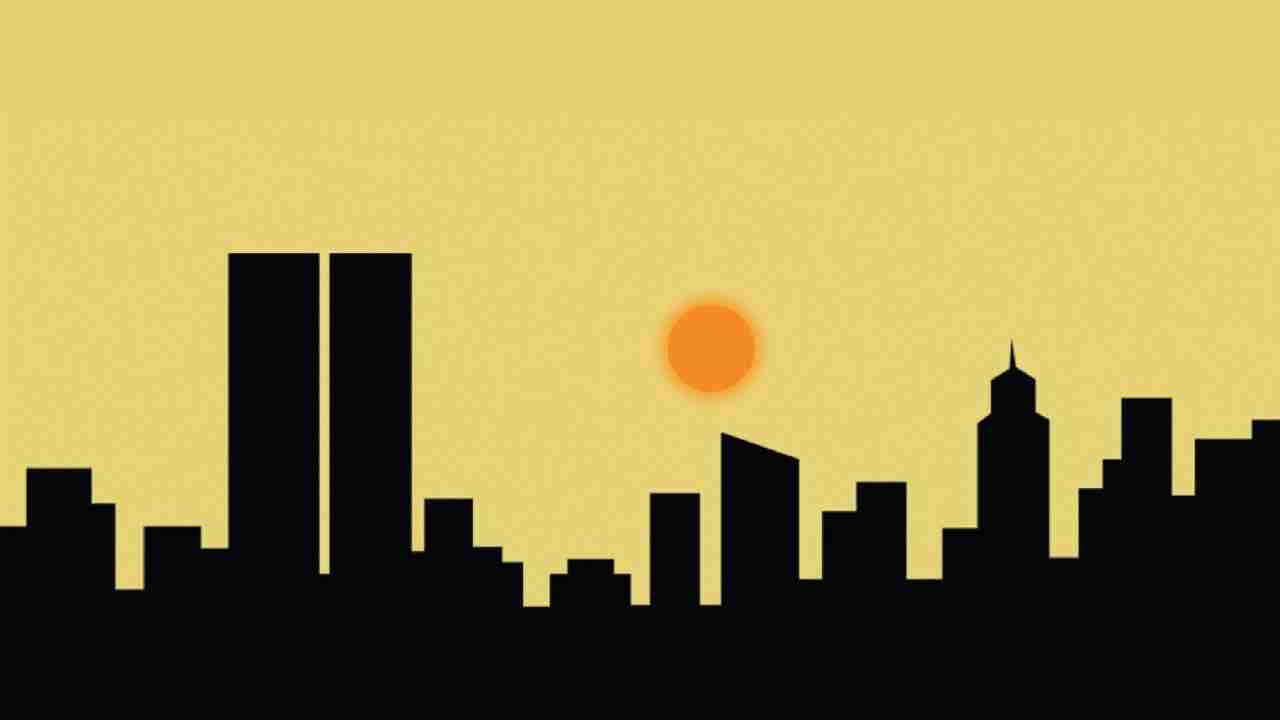 Sunset animation with pure css | Pure css animation