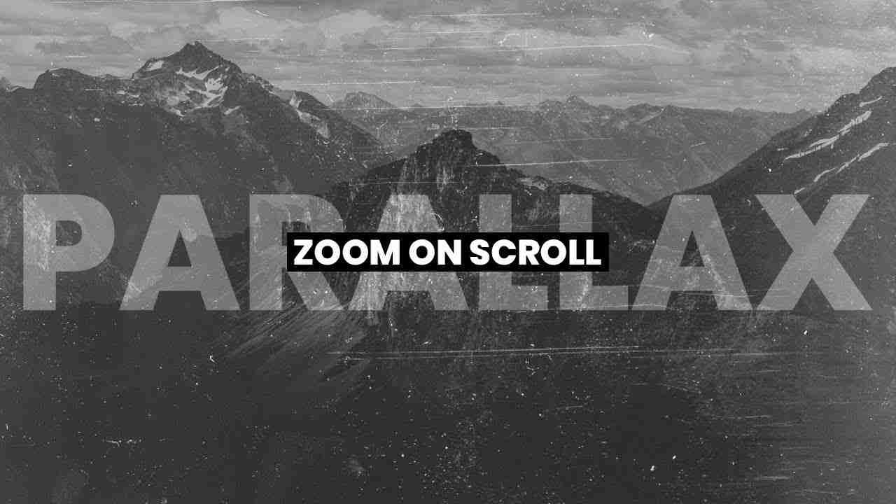 Zoom On Scroll JQuery | HTML, CSS & JAVASCRIPT