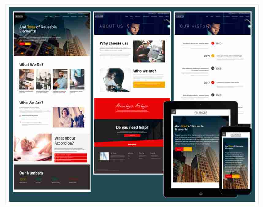 Financer – Responsive business website template ||  Website Template Free Download | HTML CSS JAVASCRIPT | Responsive Website Download | 2021 | HINDI