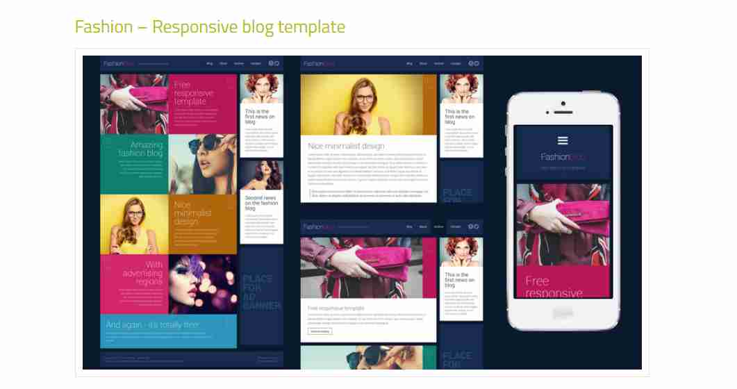 Fashion – Responsive blog template ||  Complete Responsive Blooger Website Using HTML/CSS