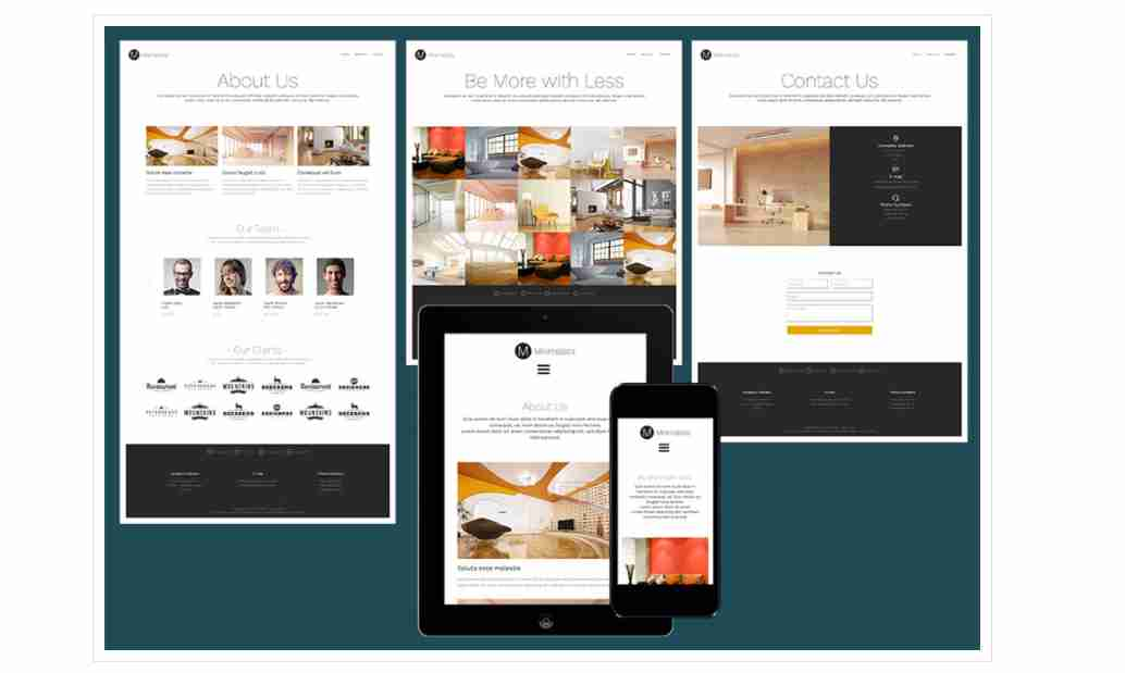 Minimalista – Responsive design website template
